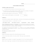 Excel Spreadsheet study notes