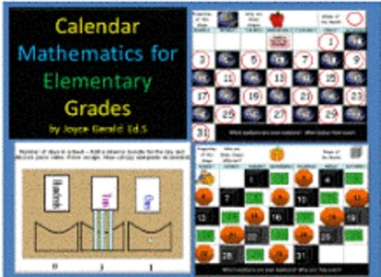 Excel Spreadsheet with Interactive Calendars and PPTs for Calendar Math