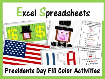 Excel Spreadsheets Presidents Day Mystery Pictures Fill Co