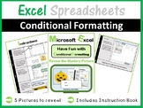 Mystery Pictures - Excel Spreadsheets Conditional Formatting