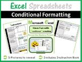 Microsoft Excel Spreadsheets - Conditional Formatting (Pixel Art)
