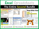 Microsoft Excel Spreadsheets - The Entire Second Lesson Plans Bundle