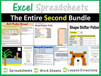 Excel Spreadsheets - The Entire Second Bundle (ISTE 2016 Aligned)
