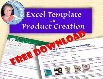 Excel Template for TPT Product Creation Management