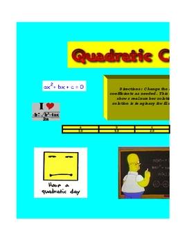 Excel quadratic calculator
