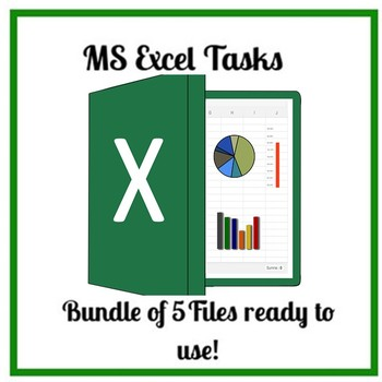 Excel tasks Bundle of 5 Files ready to use!