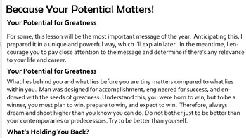 "Excellence: ""Because Your Potential Matters!"""