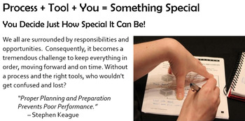 """Excellence: """"Process + Tools + You = Something Special"""""""