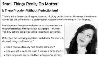 """Excellence: """"Small Things Really Do Matter"""""""