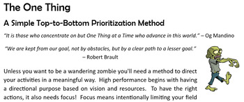 "Excellence: ""A Simple Top-to-Bottom Prioritization Method"""