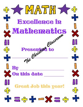 Excellence and Improvement in Math awards