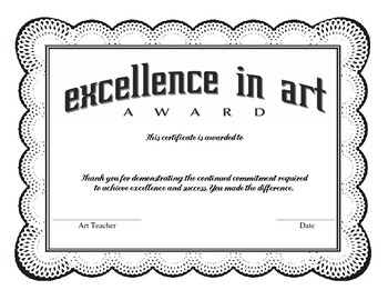 Excellence in Art Award