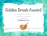 Excellence in Art Certificate!