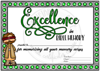 Excellence in Bible Memory -- FREE!