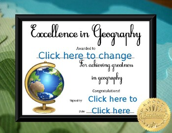 Excellence in Geography