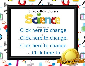 Excellence in Science Award
