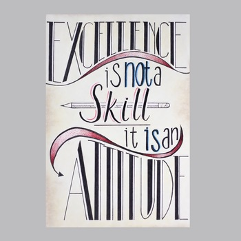 Excellence is an Attitude - Inspirational Poster