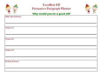 Excellent Elf December Persuasive Writing Graphic Organizer