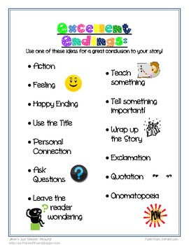 Excellent Endings Handout and Poster