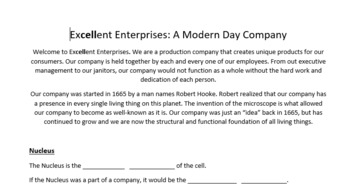 Excellent Enterprises: A Modern Day Cell Company