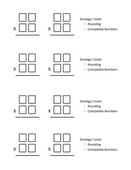 Excellent Estimations (Estimating 2 digit by 2 digit multiplication facts)