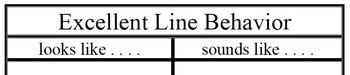 Excellent Line Behavior - Classroom Management