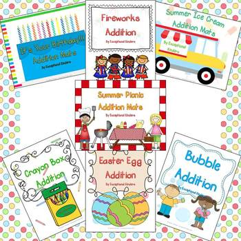 Exceptional Kinders' Addition Mats - All Addition Mats Plus Downloads for Life