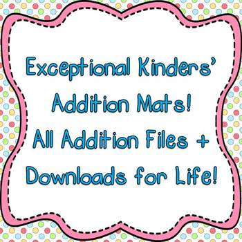 Exceptional Kinders' Addition Mats - All Addition Mats Plu
