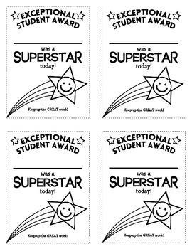 Exceptional Student Award