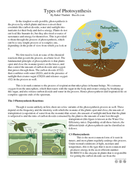 Exceptions to the rules (C3 and CAM photosynthesis) (Anaerobic respiration)
