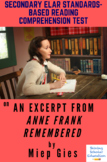 Excerpt from Anne Frank Remembered by Miep Gies with A. L. Gold Reading Test