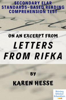 Excerpt from Letters from Rifka by Karen Hesse Multiple-Choice Reading Test