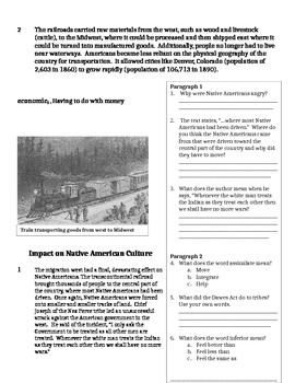 Excerpts for Impact of Transcontinental Railroad