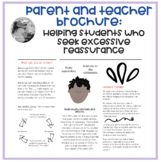 """""""Excessive Reassurance"""" brochure for parents and teachers"""