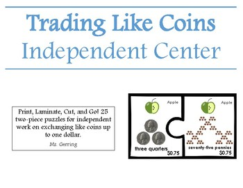 Exchanging Like Coins Puzzle Center