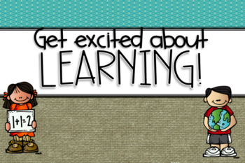 Excited About Learning-Classroom Decor