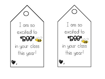 Excited to BEE in your class Teacher TAG