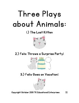 3 Exciting Animal Reader's Theatre Plays - The Compilation of Plays #1, 2, and 3