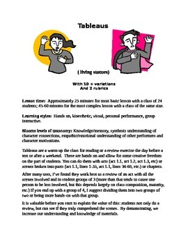 Exciting Classroom Literature/ Drama Review Activity