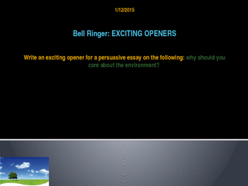 Exciting Openers