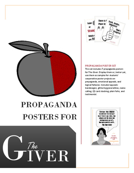 Exciting Propaganda Posters for The Giver. Covers major emotional appeals.