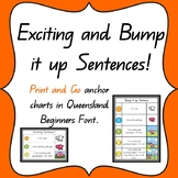 Exciting and Bump it Up Sentences Anchor charts