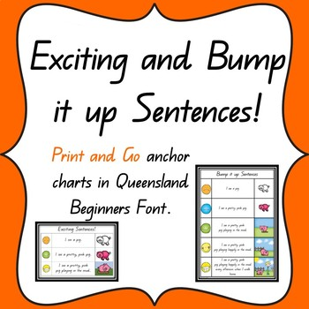 Exciting Sentences Anchor chart