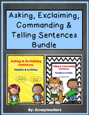 Exclaiming, Asking, Commanding, & Telling Sentences Bundle
