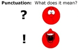 Exclamation Point and Question Mark Handwriting Flipchart for Promethean Board