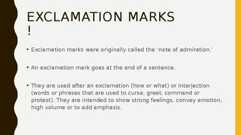 Exclamation PowerPoint