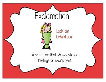 Exclamation Sentence Type Poster
