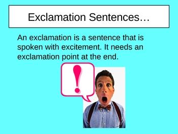 Exclamation Sentences Power Point Presentation