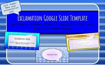 Exclamation Theme Google Slide Template (Editable)