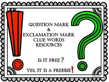 Exclamation and Question Marks Resource FREEBIE